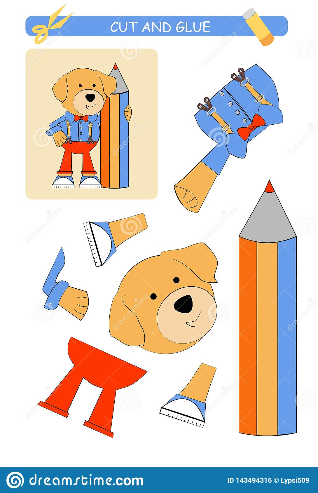 Cut Glue Dog Stock Illustrations 45 Cut Glue Dog Stock