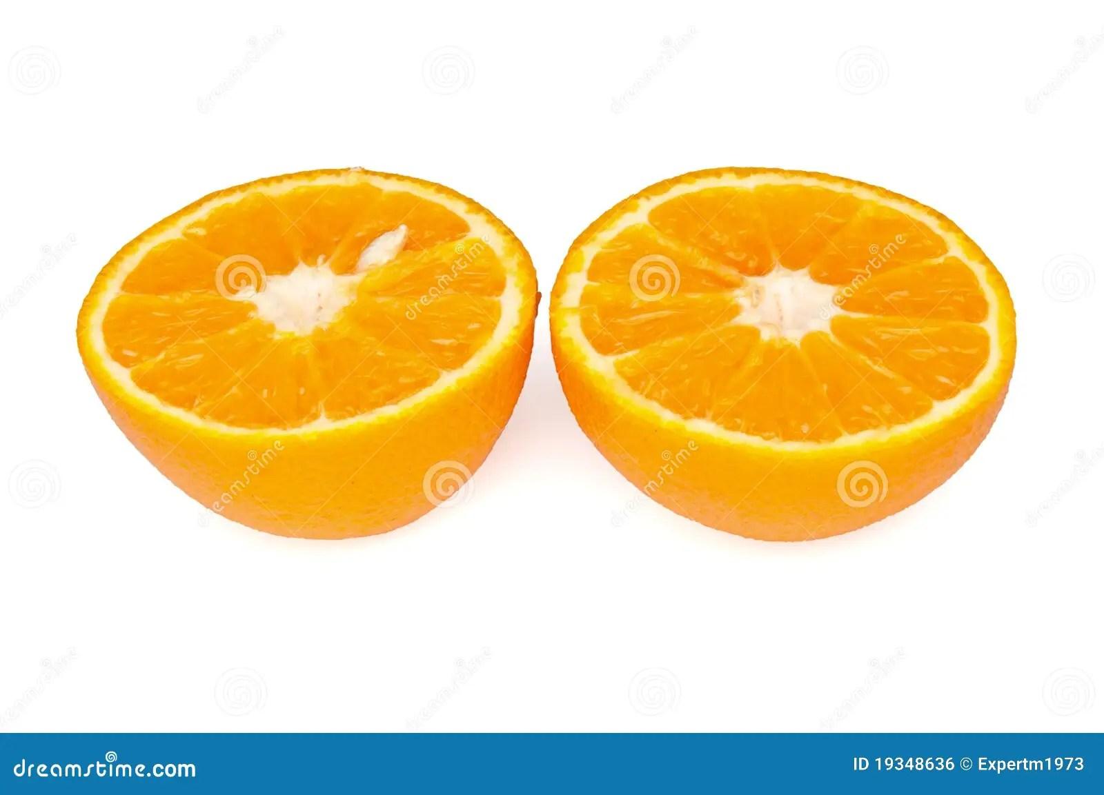 Cut In Half An Orange Royalty Free Stock Image Image
