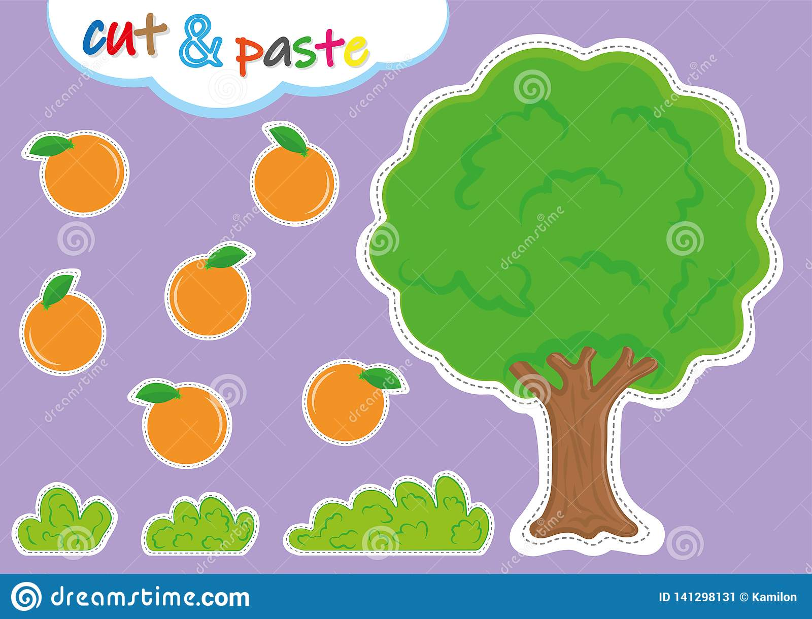 Cut And Paste Activities For Kindergarten Preschool