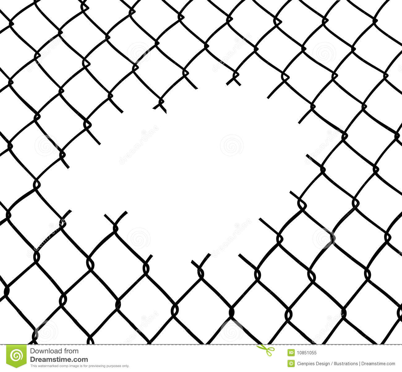 Cut Wire Fence Stock Vector Image Of Boundary Background