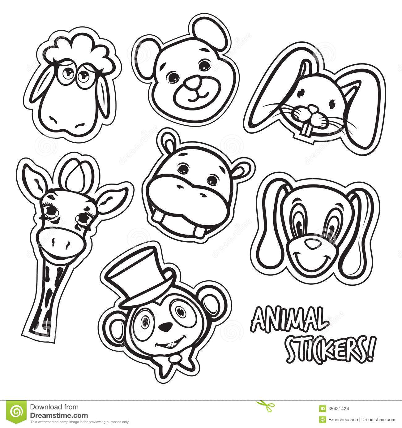 Cute Animal Card Stock Vector Illustration Of Icon Funny