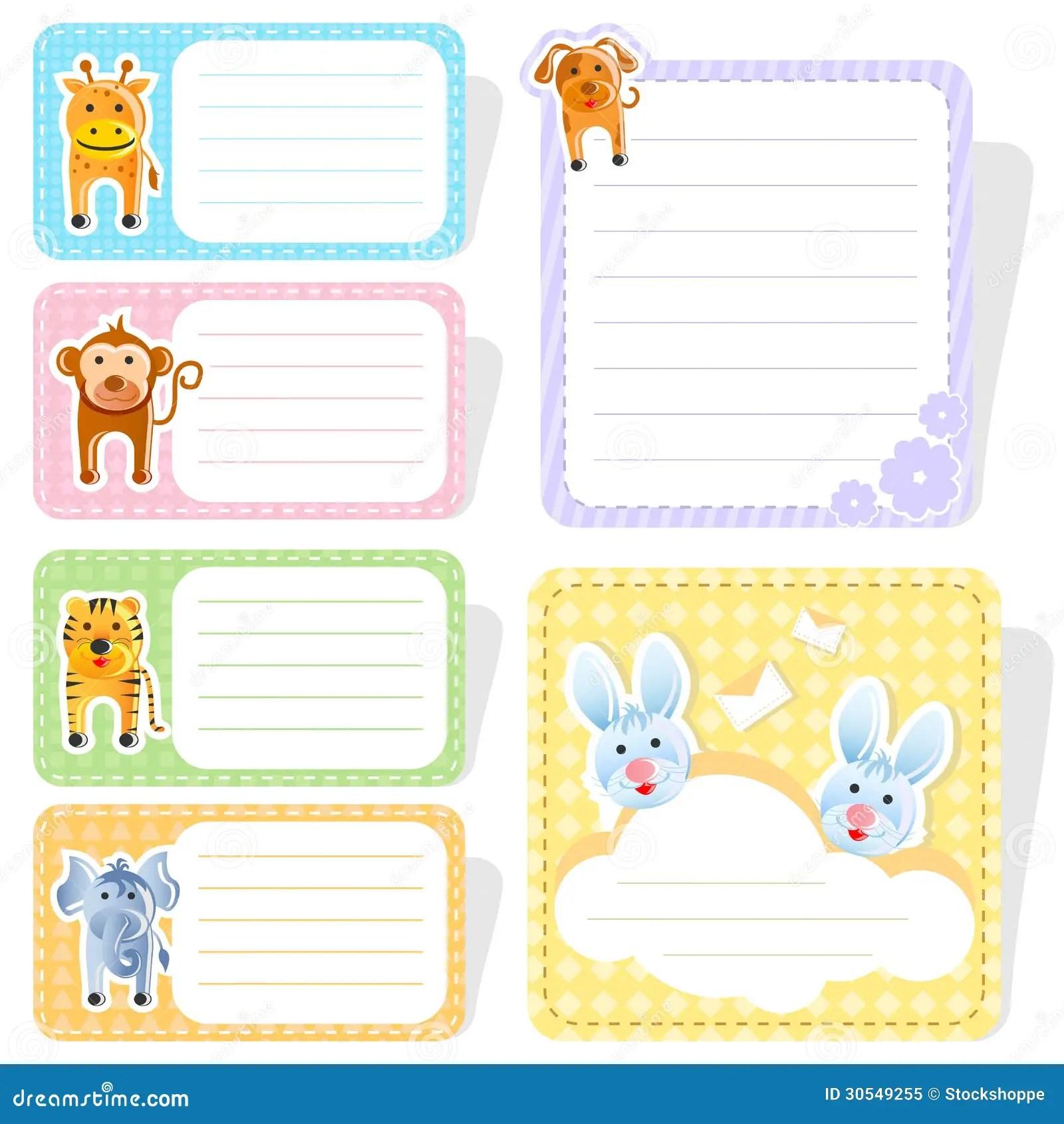 Cute Animal Label Stock Vector Illustration Of Cute