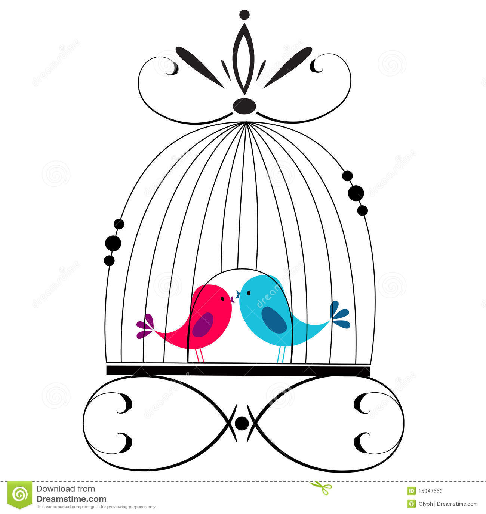 Cute Birds Kissing Stock Vector Image Of Invitation
