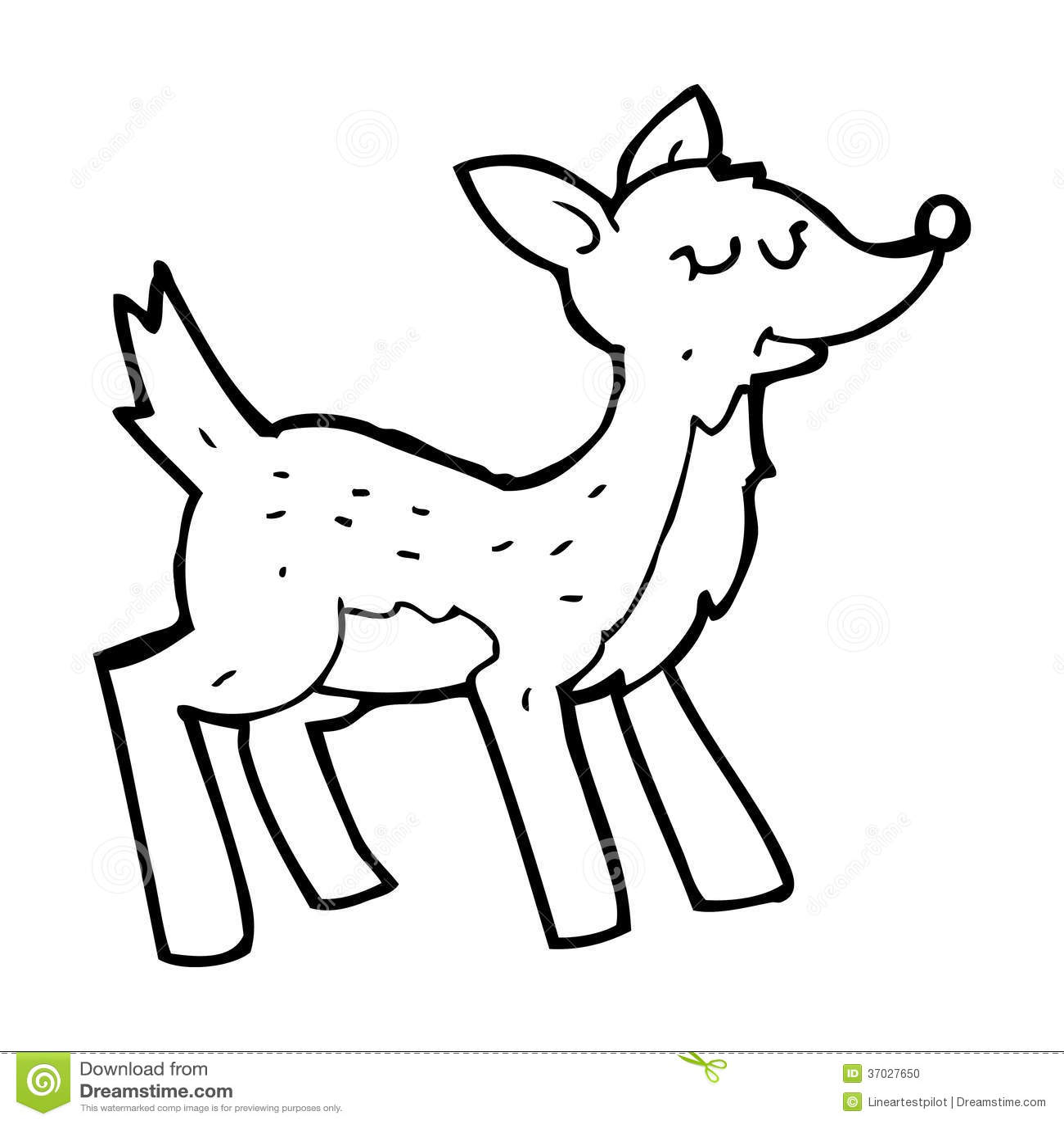 Cute Cartoon Deer Stock Photo