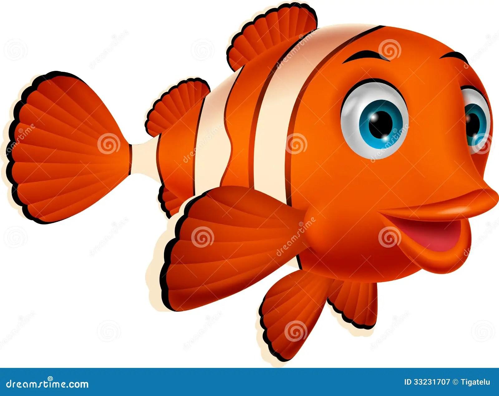 Cartoon Clown Fish Coloring