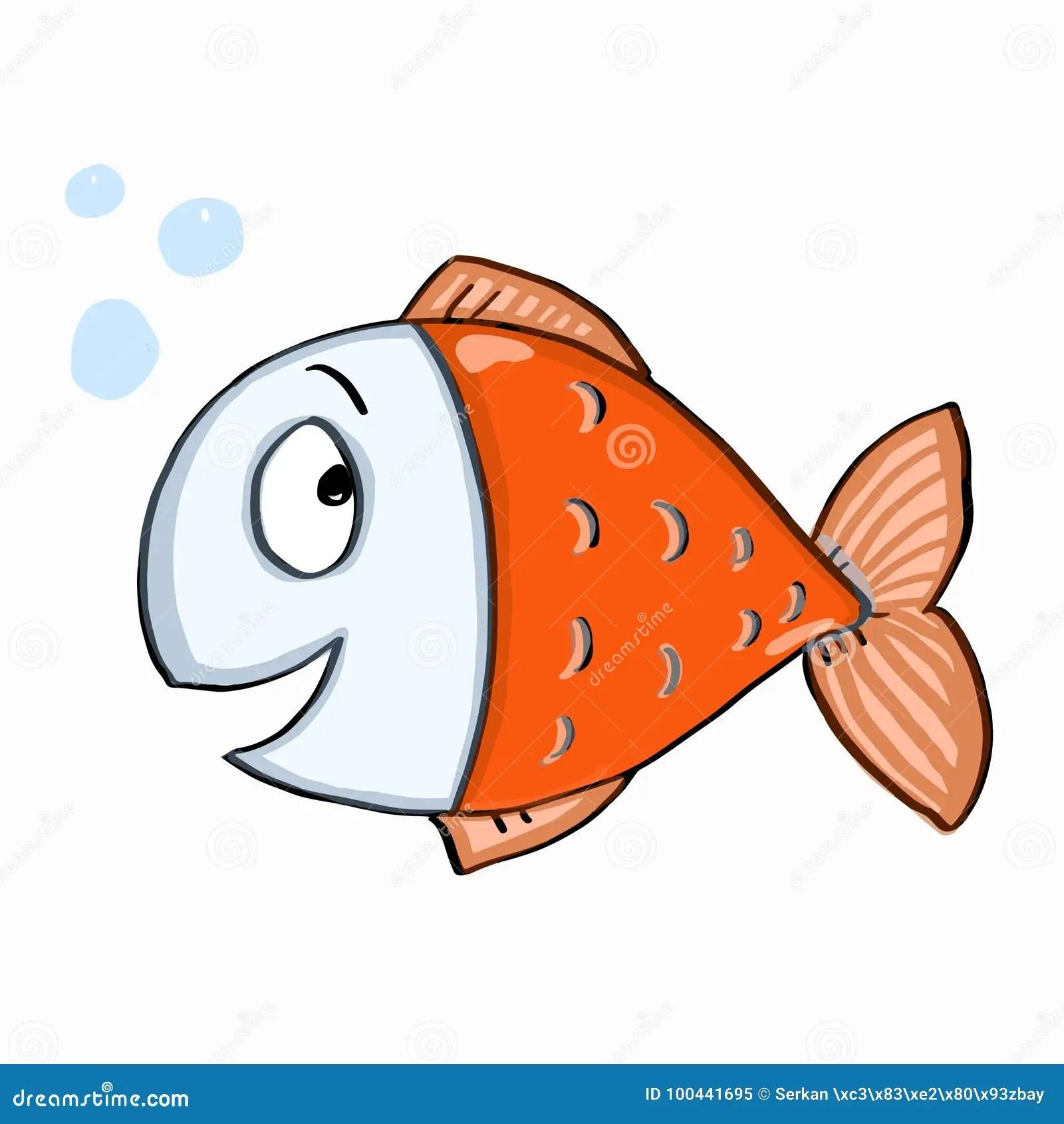 Cute Fish Colour Stock Vector Illustration Of Elephant