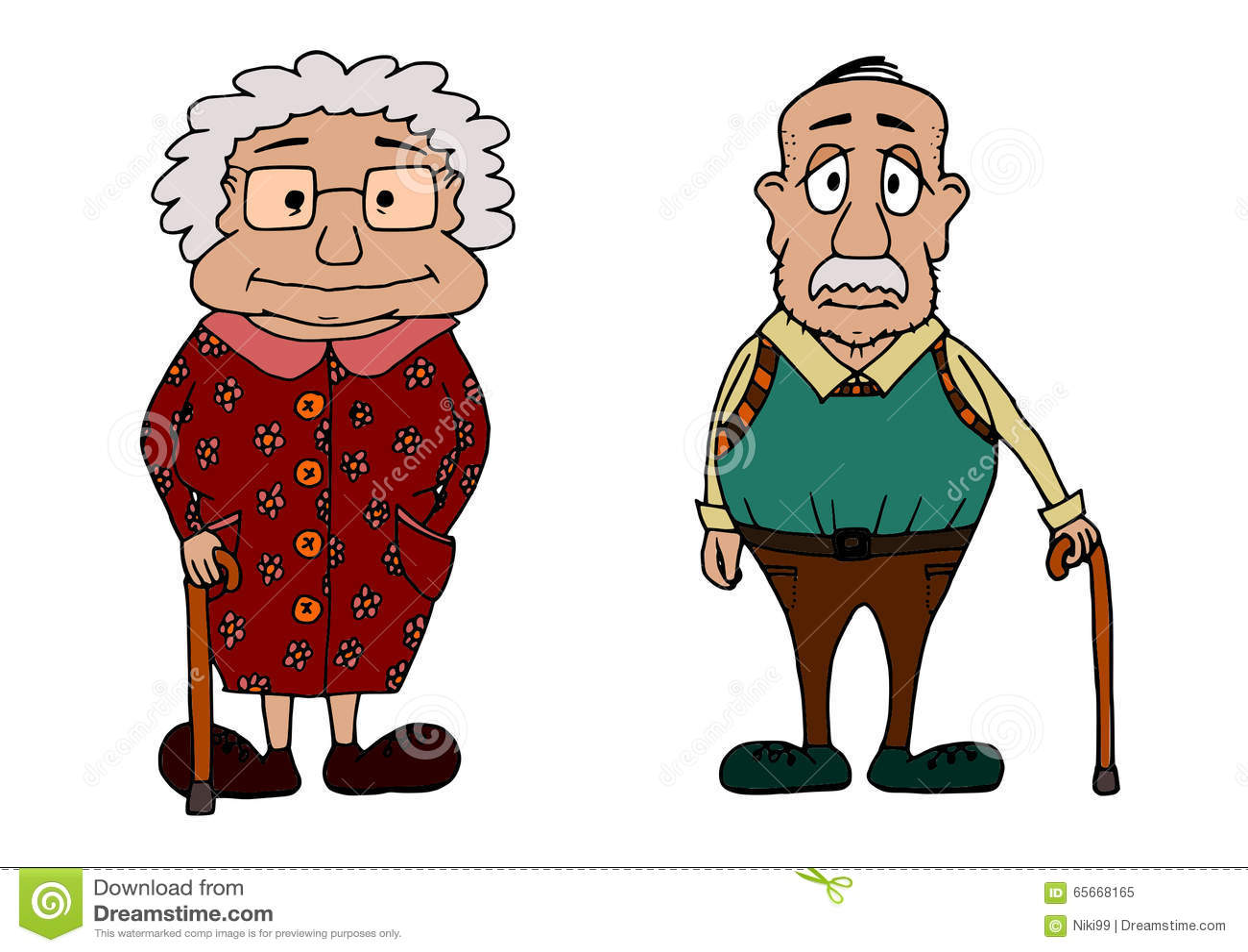Cute Grandma And Grandpa Stock Vector Illustration Of