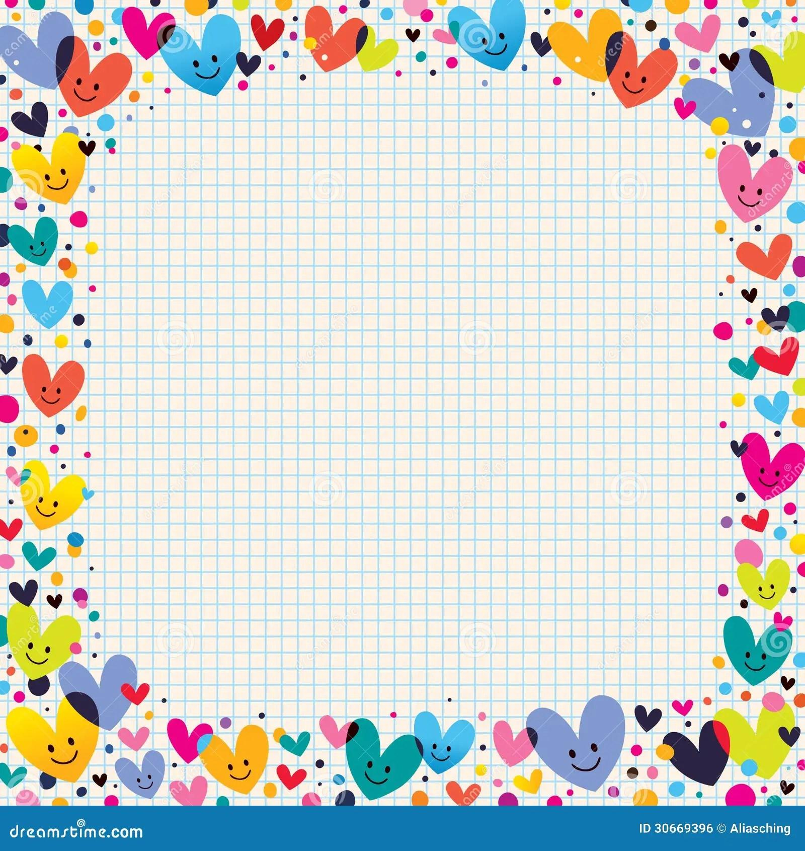 Cute Hearts Border Royalty Free Stock Image