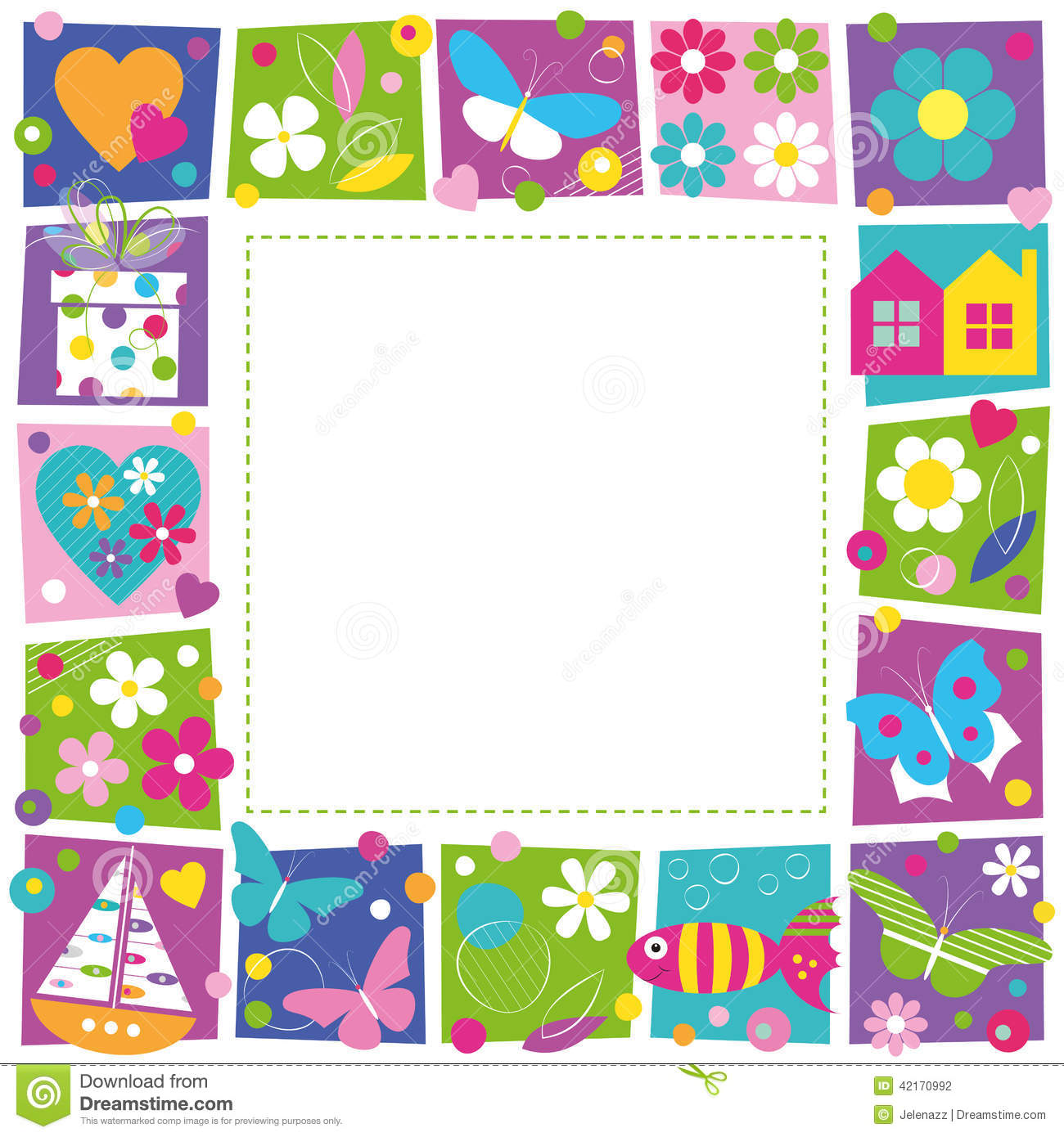 Cute Butterfly Designs Border
