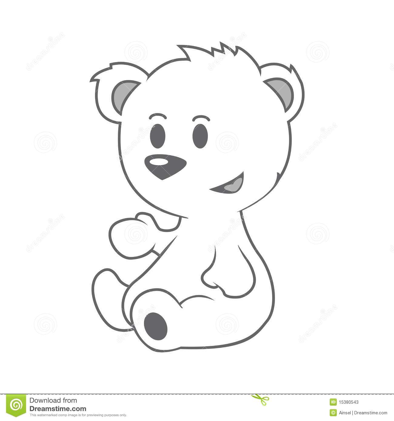 Cute Little Bear Stock Photos