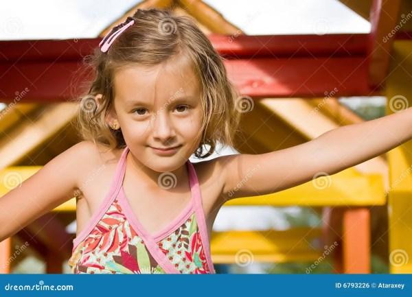 Cute little girl stock photo. Image of childhood, child ...