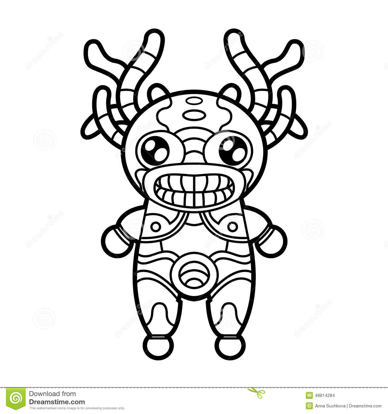 Smiling Tiki With Background Royalty Free Stock
