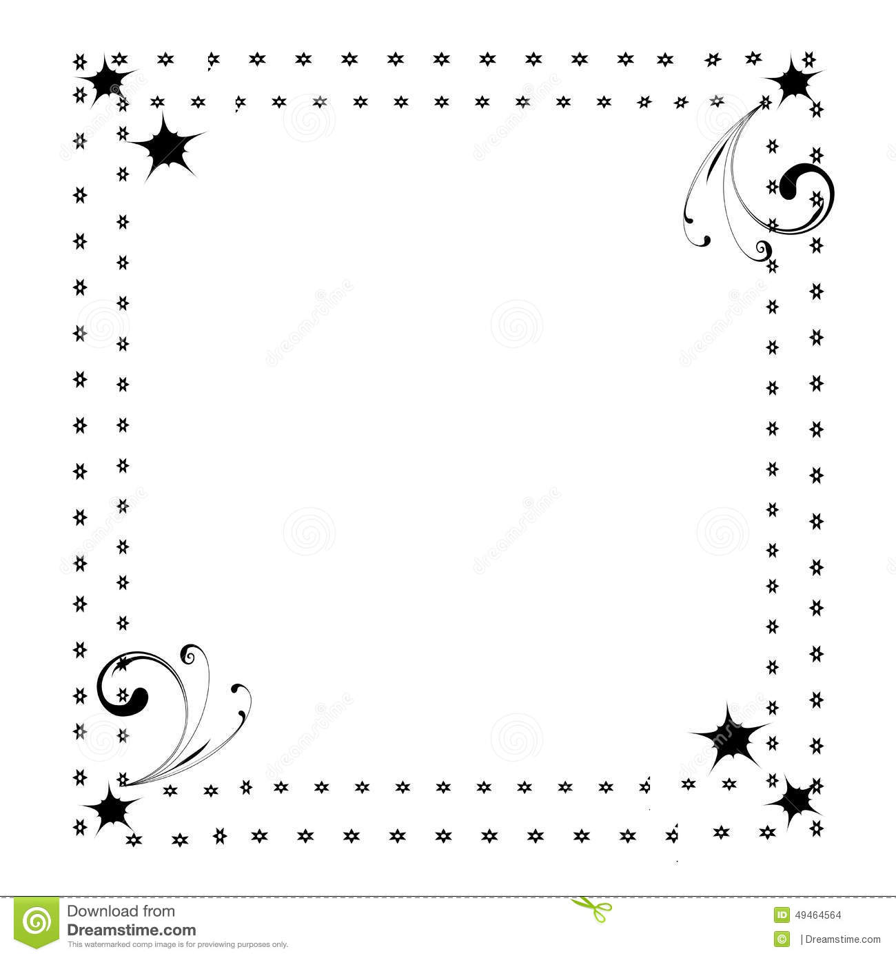 A Cute Page Border Frame Stock Illustration