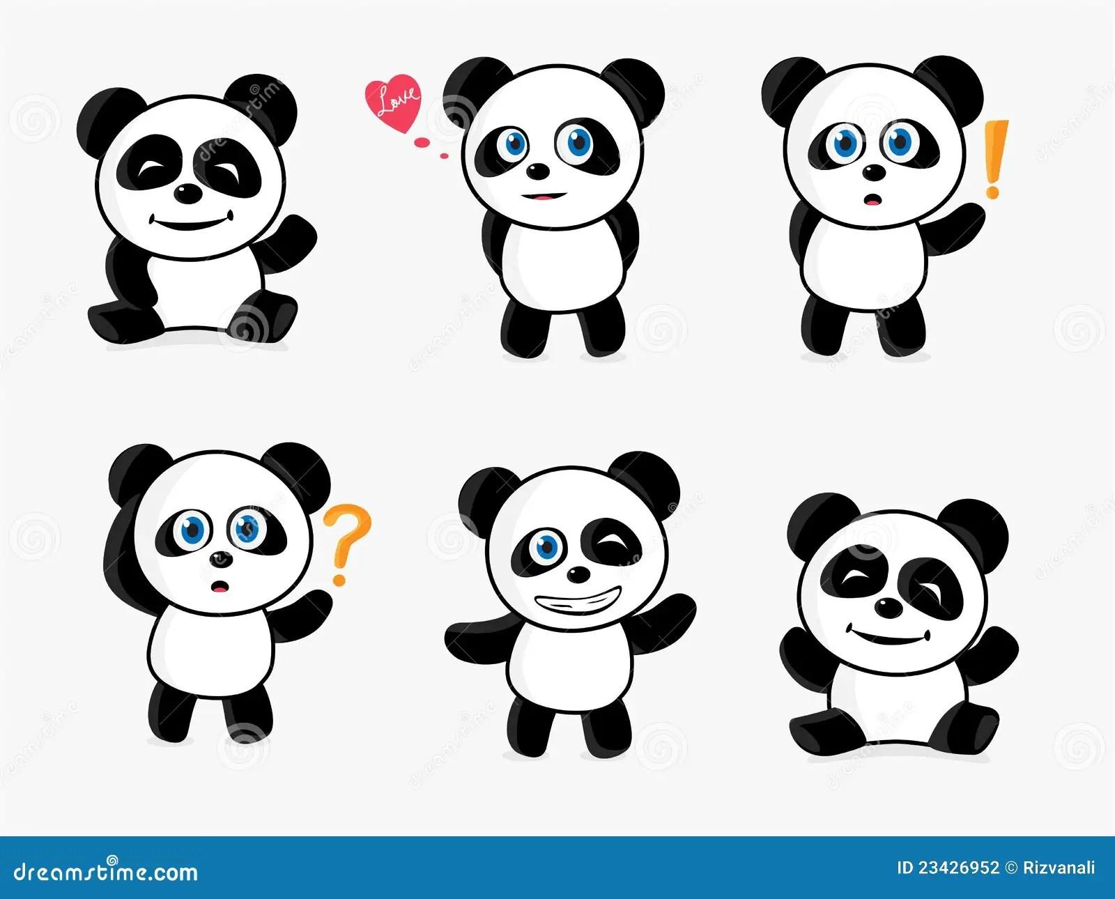 Cute Panda Vector Illustration