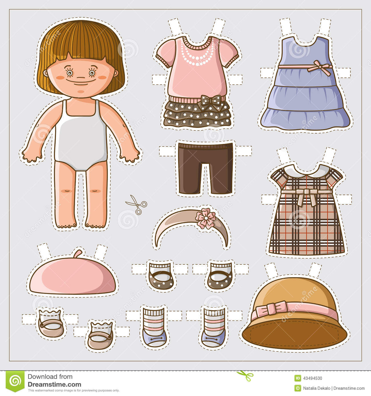 Cute Paper Doll Stock Vector Image Of Cute Card Baby