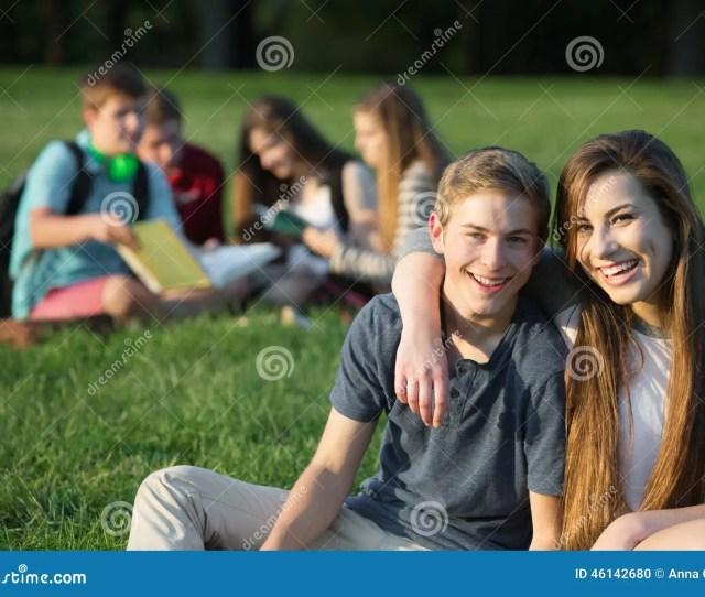 Cute Teens Embracing