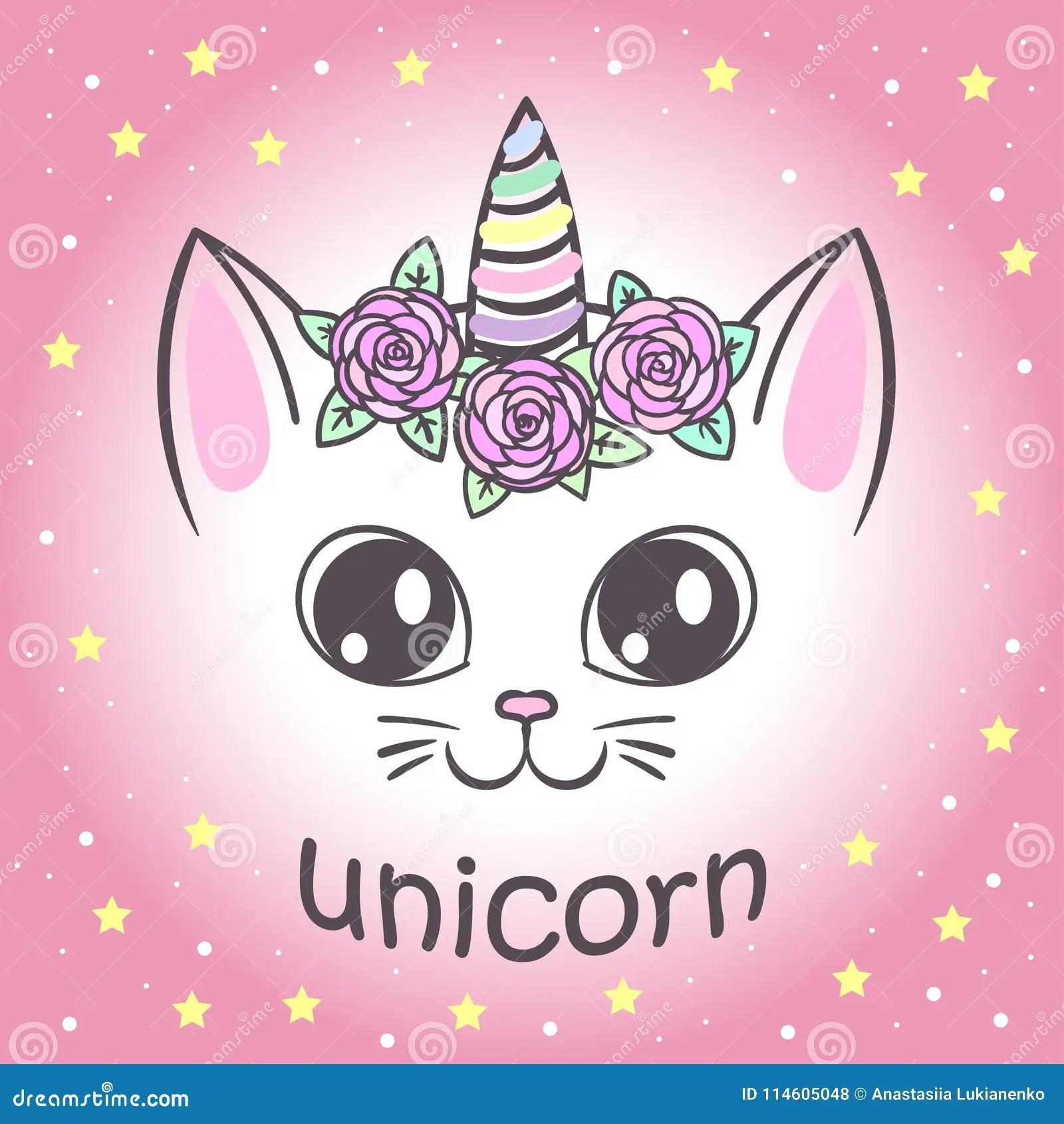 Cute Unicorn Cat Wallpaper