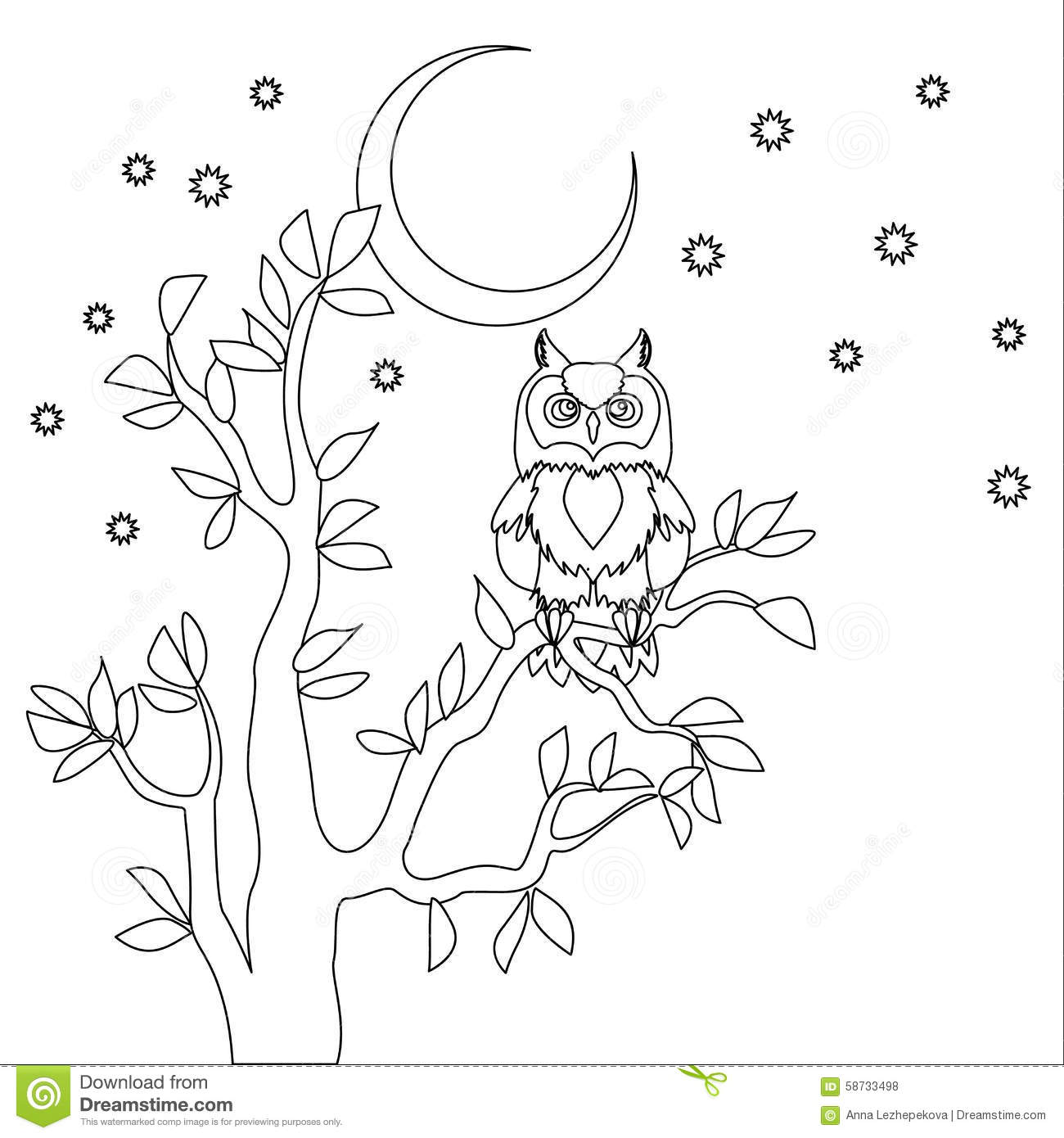 Vector Cute Owl Cartoon Vector