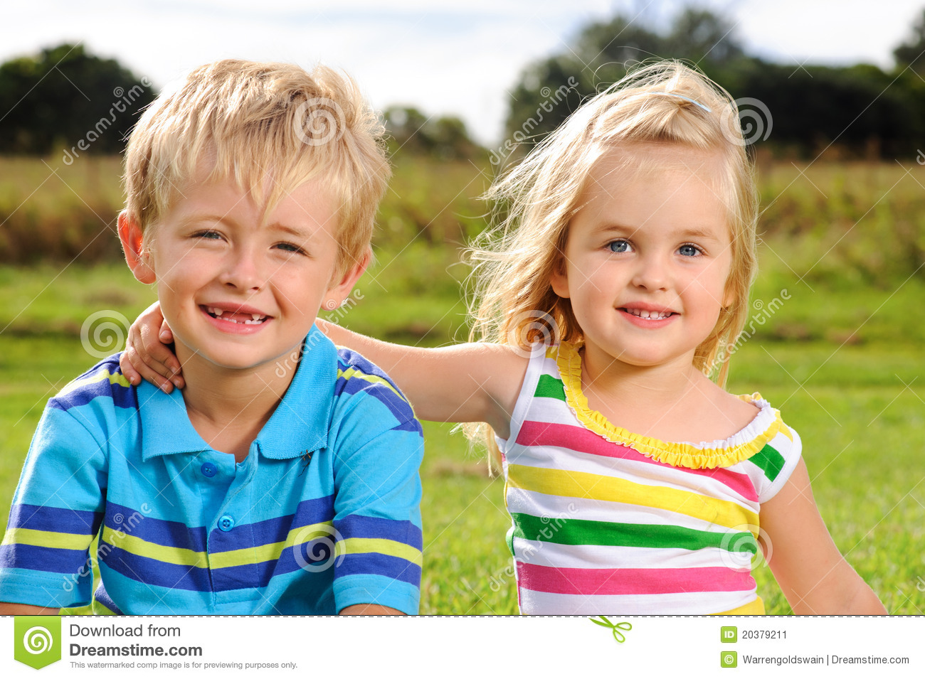 Cute Young Kids Outdoors Stock Image Image Of Portrait