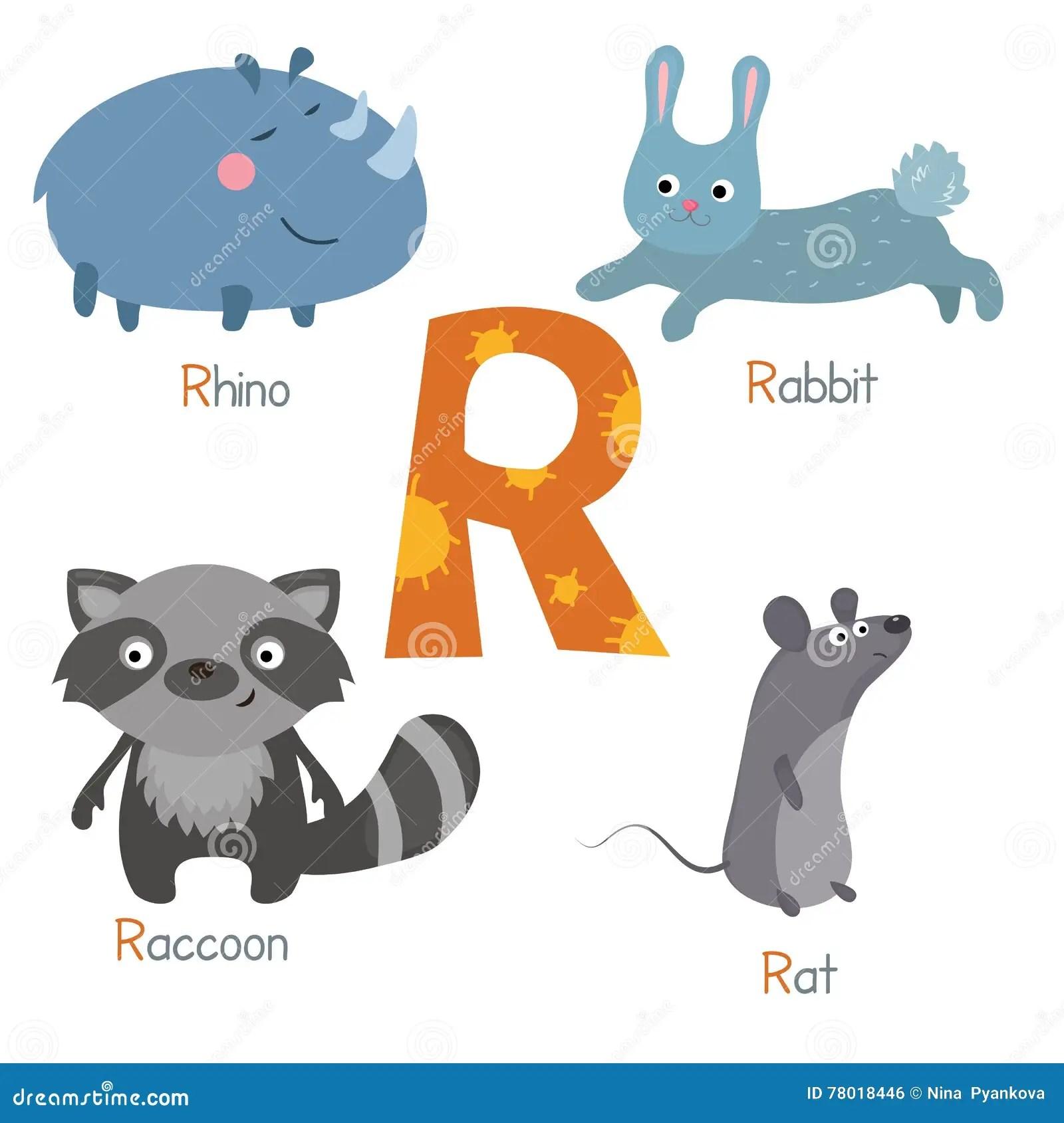 Rhino Student Vector Illustration