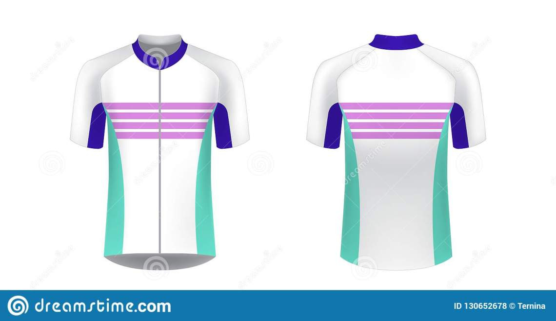Download Cycling jersey mockup stock vector. Illustration of sleeve ...