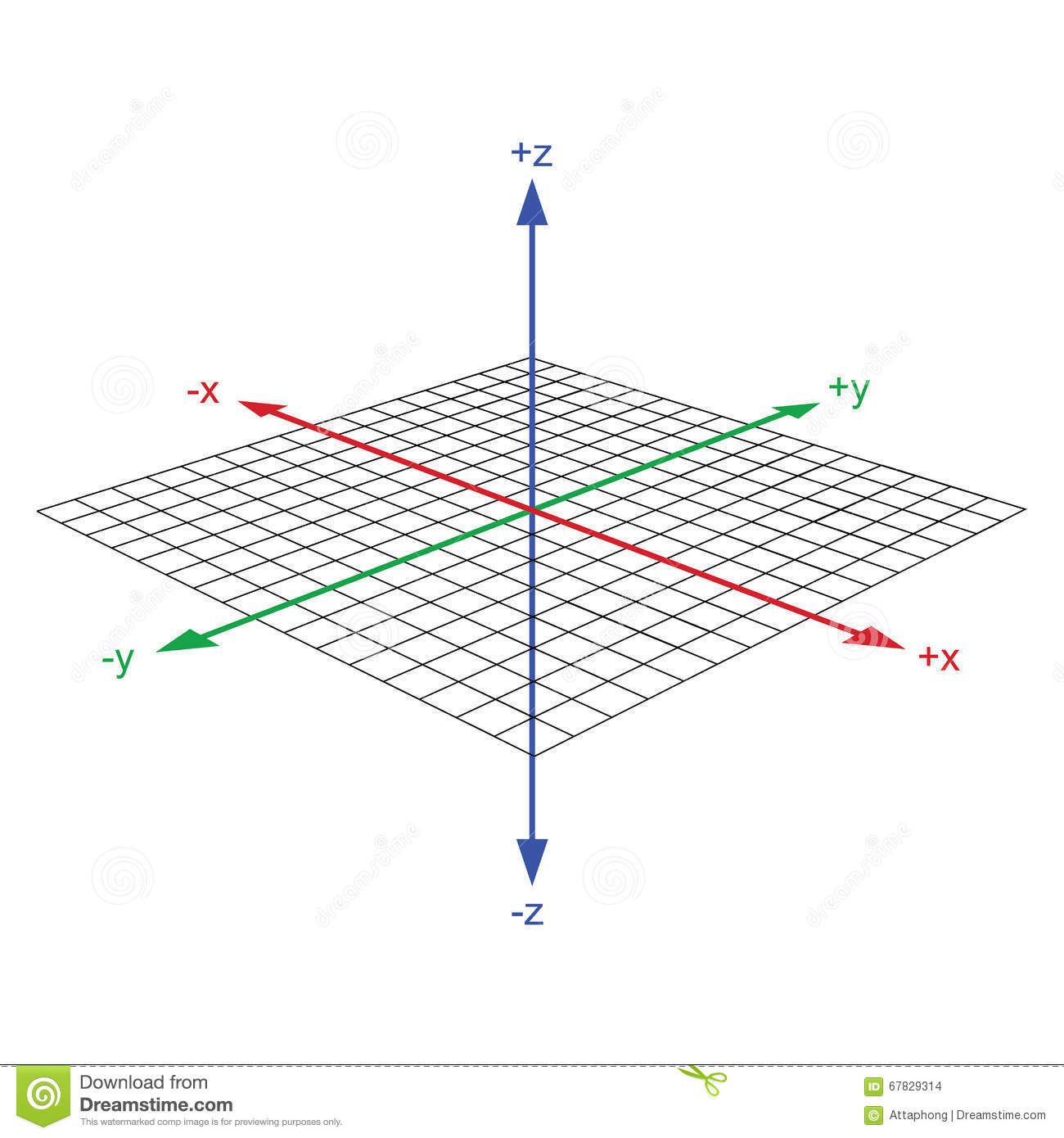3d Coordinate Axis Vector Stock Vector Illustration Of