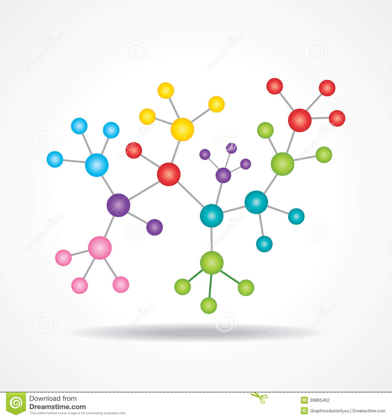3d Eco Chemical Atomic Structure Molecule Model Stock