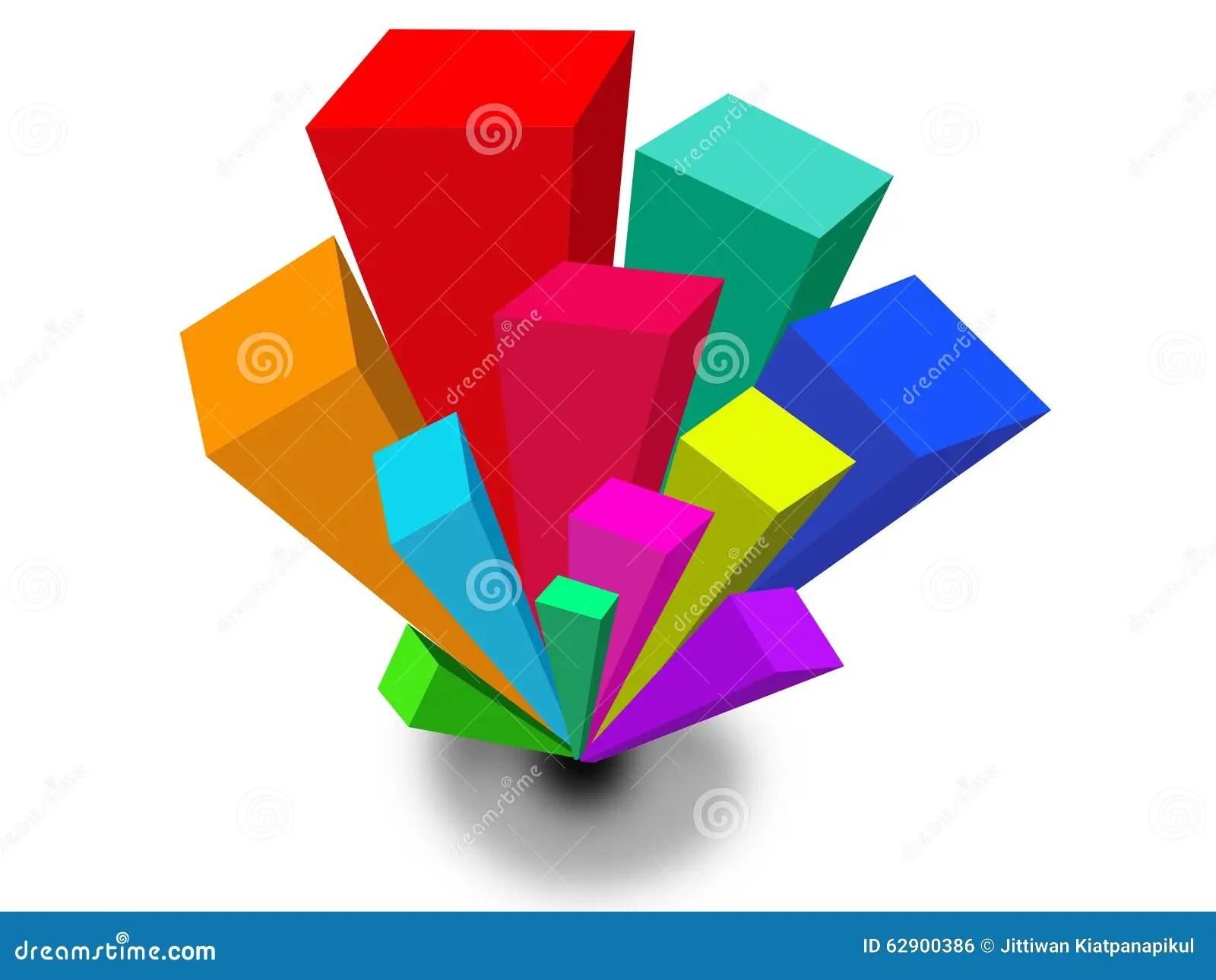 3d Geometric Bar Shapes Background Stock Illustration