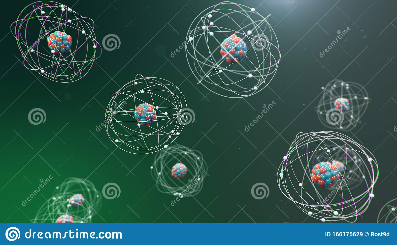 3d Illustration Atomic Structure Atom Is The Smallest
