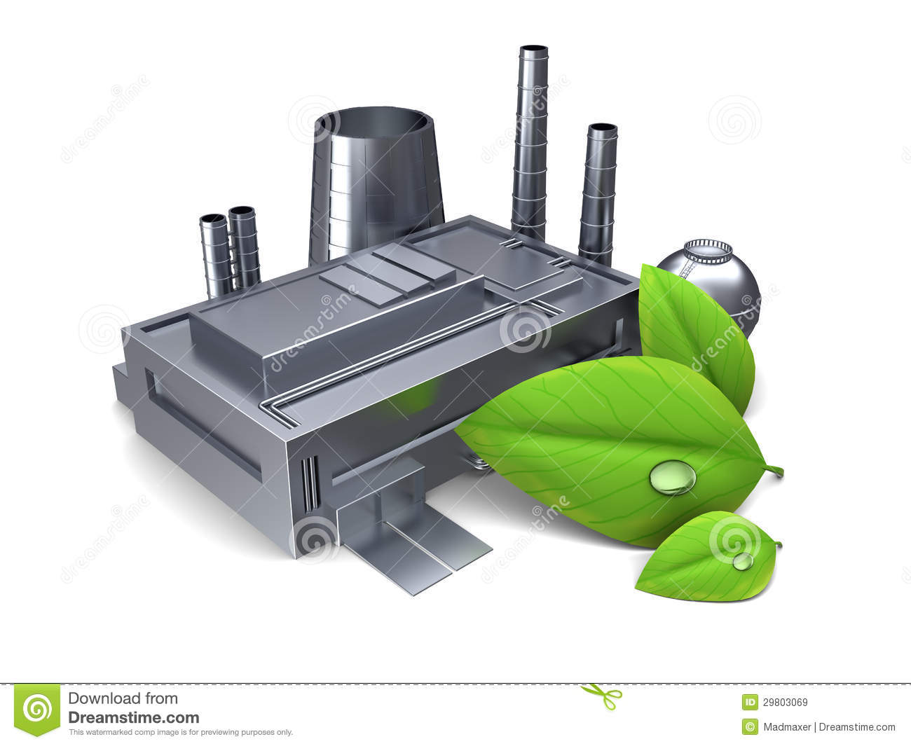 Green Industry Royalty Free Stock Images