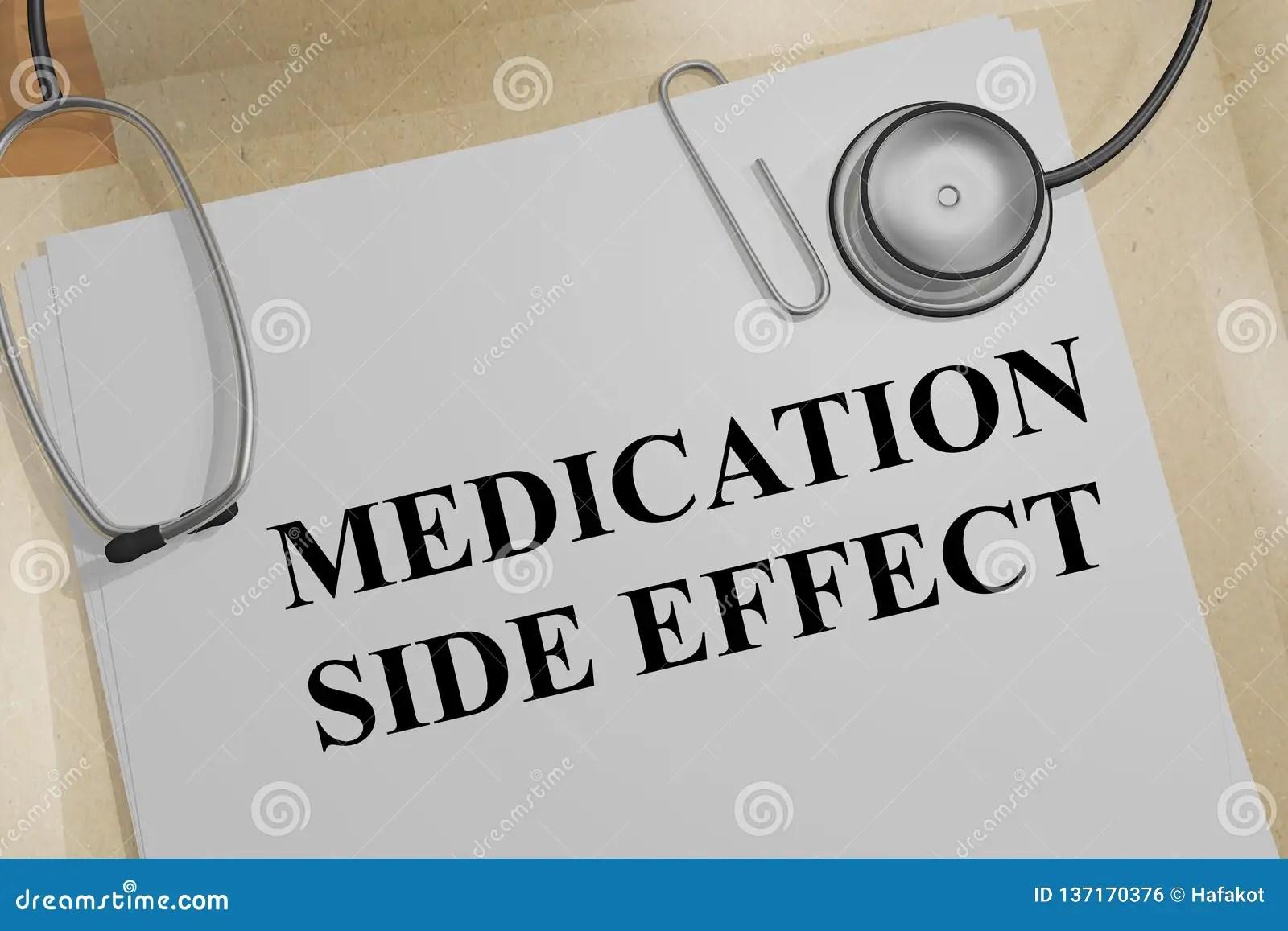Medication Side Effect Concept Stock Illustration
