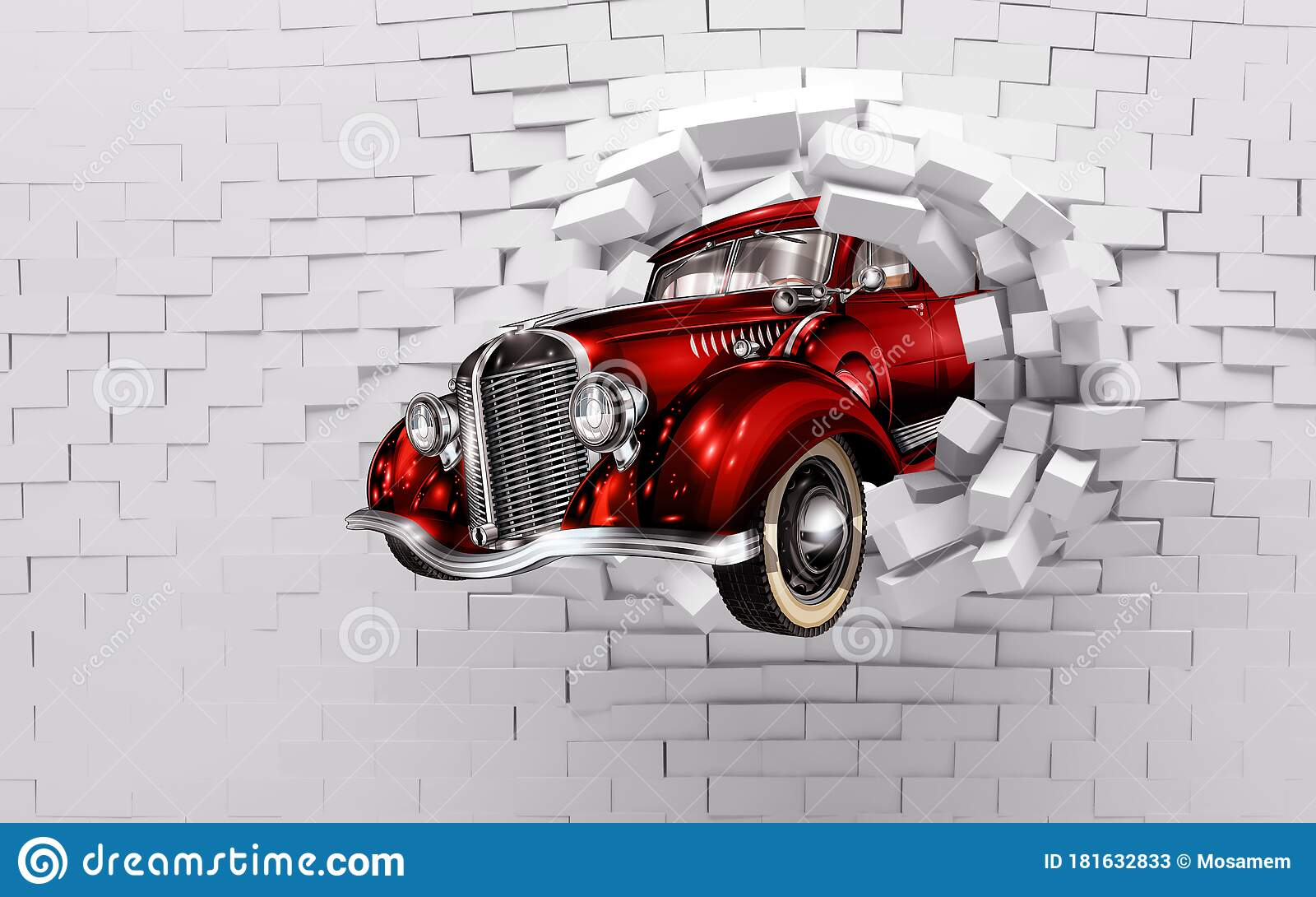 60+ kids room wall decor sticker ideas & 3d Mural Wallpaper Broken Wall Bricks And Red Classic Car World Map In Colored Background Suitable For Childrens And Kids Bed R Stock Illustration Illustration Of Gray Holiday 181632833