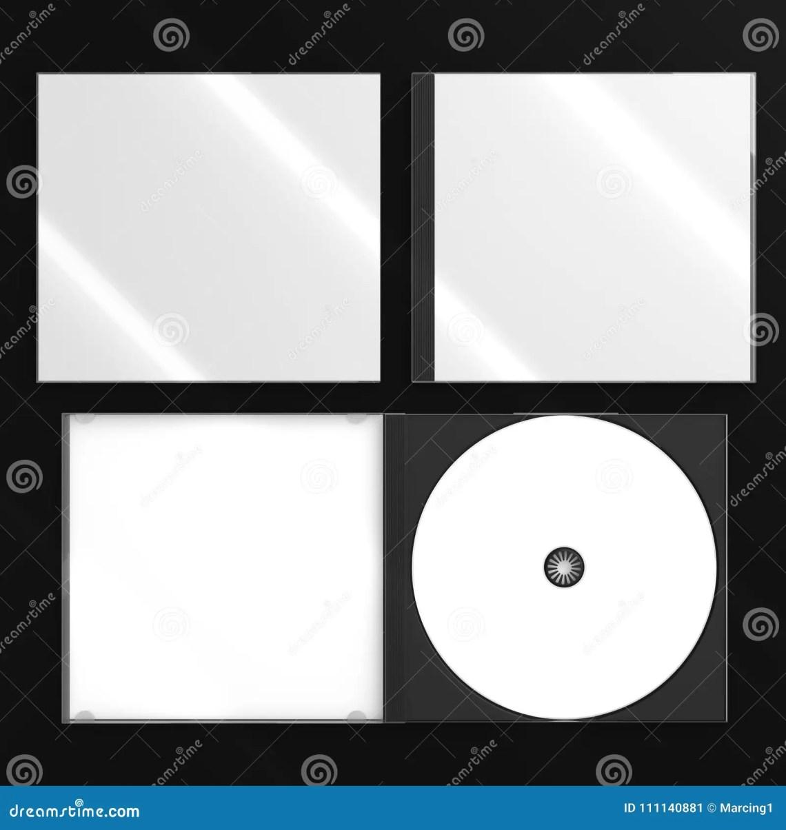 Download CD DVD Disc Plastic Box Mockup. Top View. Stock ...