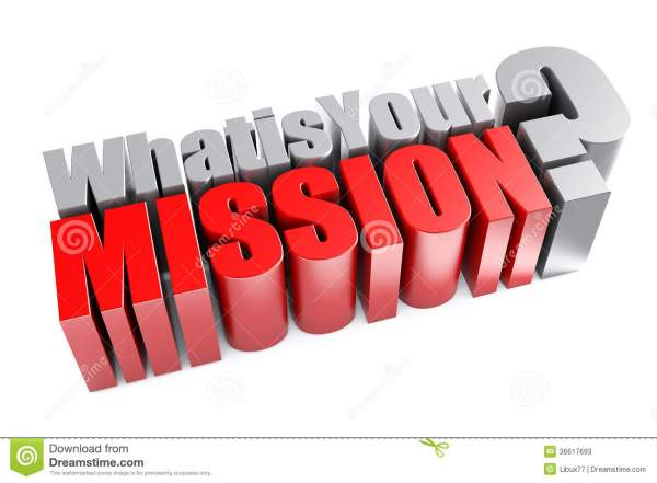 3d What Is Your Mission Question Stock Photos Image
