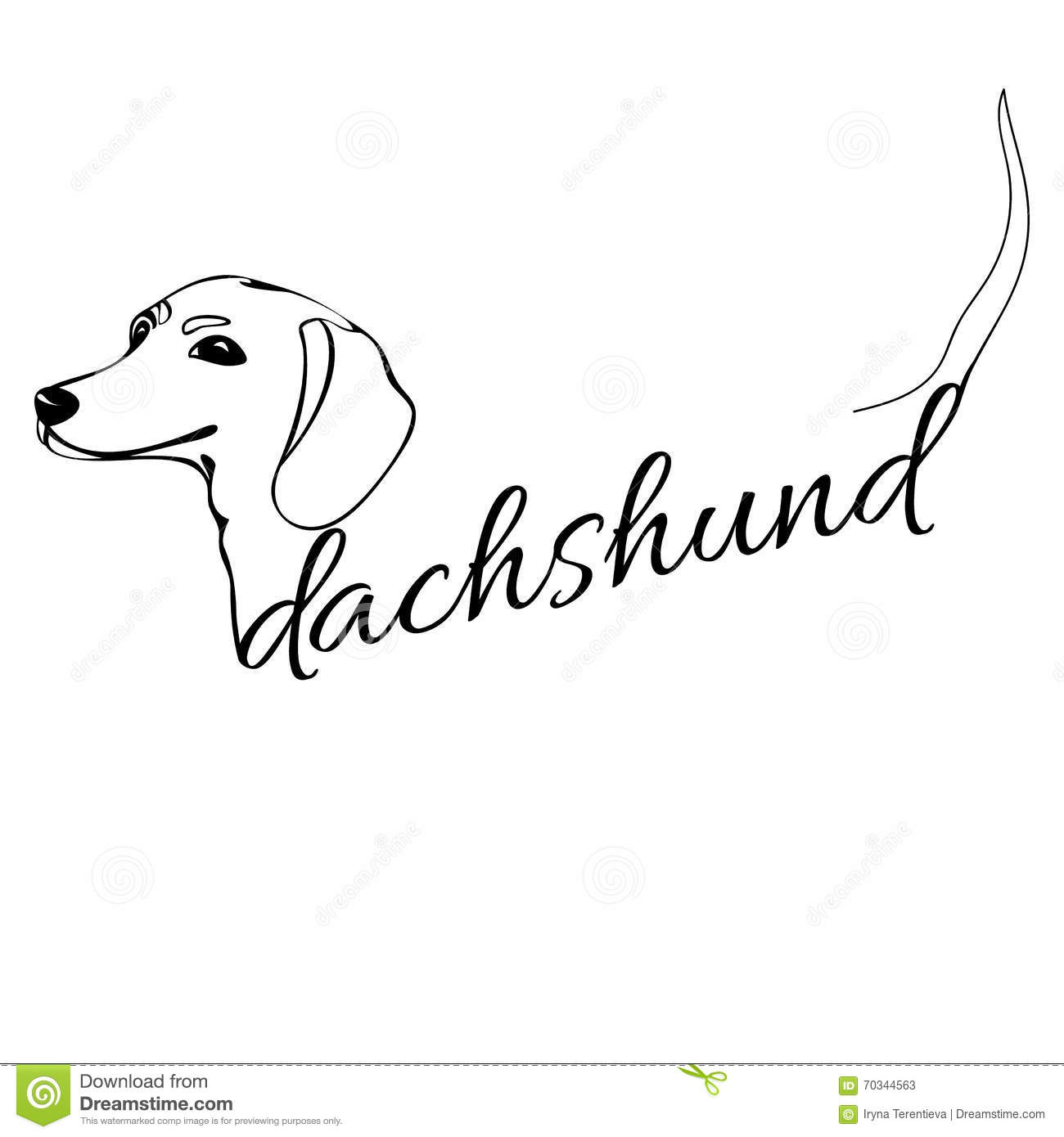 Dachshund Dog Head Stock Vector Illustration Of Handmade