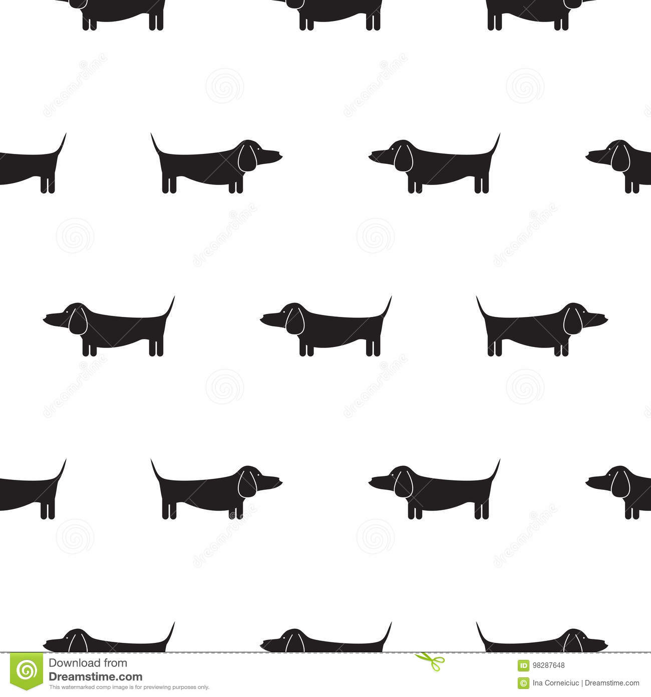 Dachshund Silhouette Stock Illustrations 1 070 Dachshund