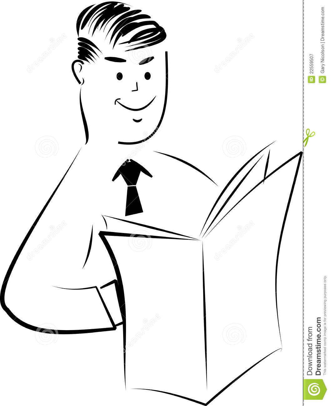 Dad Reading Paper Stock Vector Illustration Of Vector
