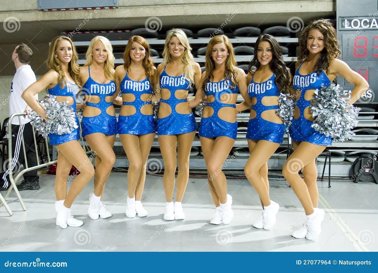 Dallas Mavericks Cheerleaders Editorial Stock Image