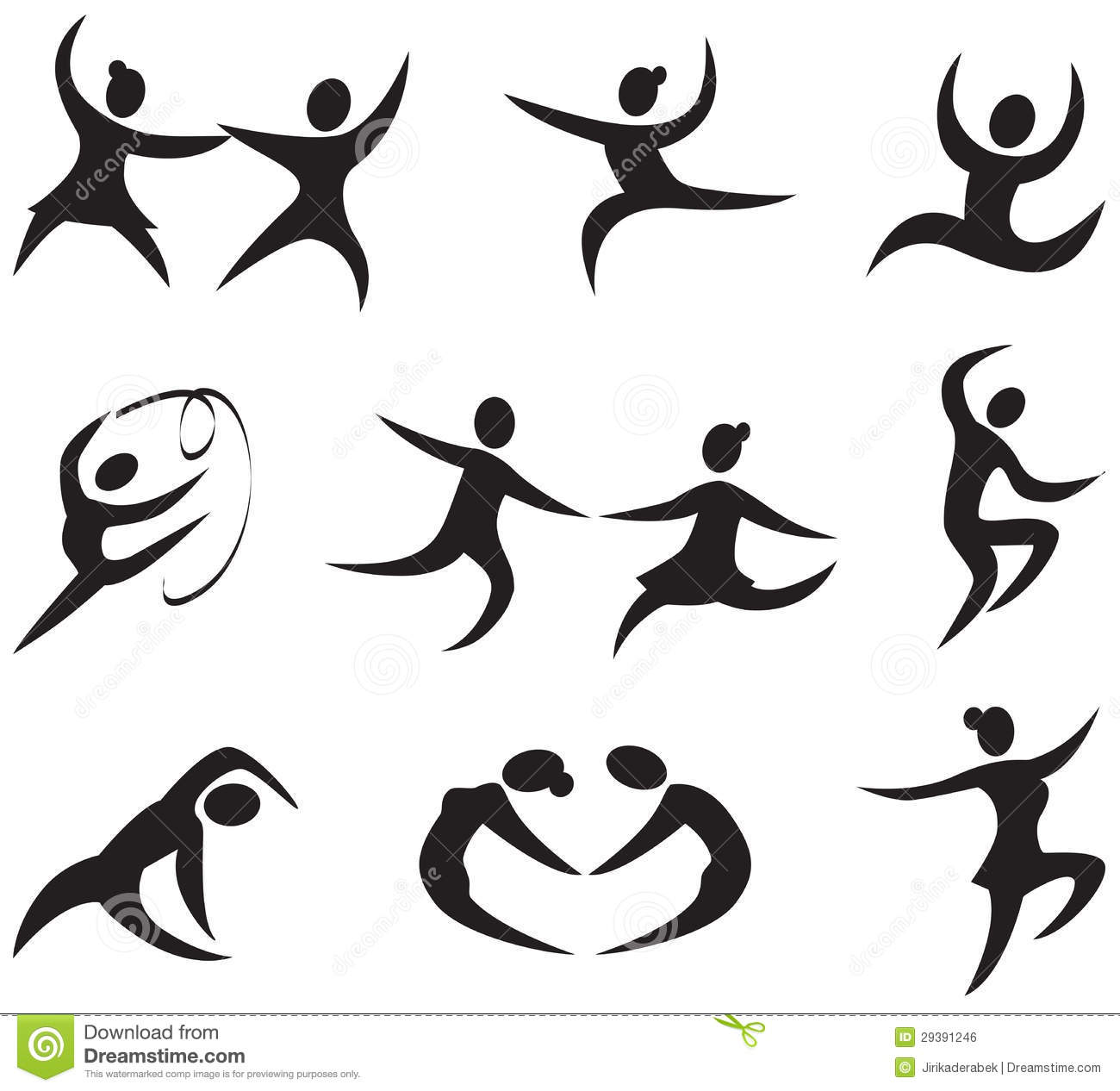 Dance Icons Stock Vector Illustration Of Figure Male