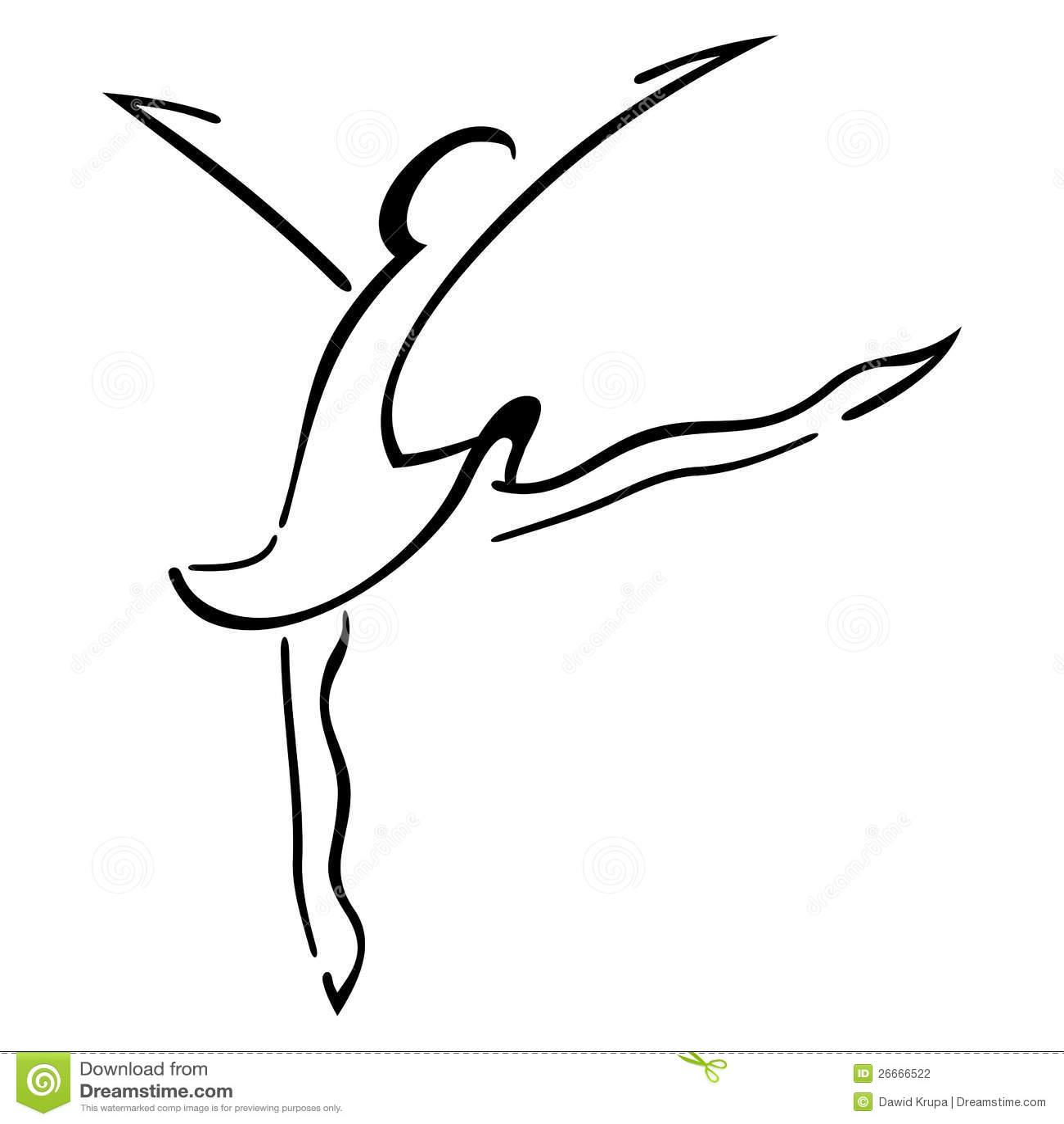 Dance Symbol Stock Vector Illustration Of Gymnastics