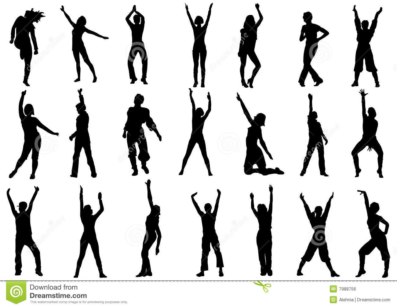 Dancing Girls In Action Illustration Royalty Free Stock