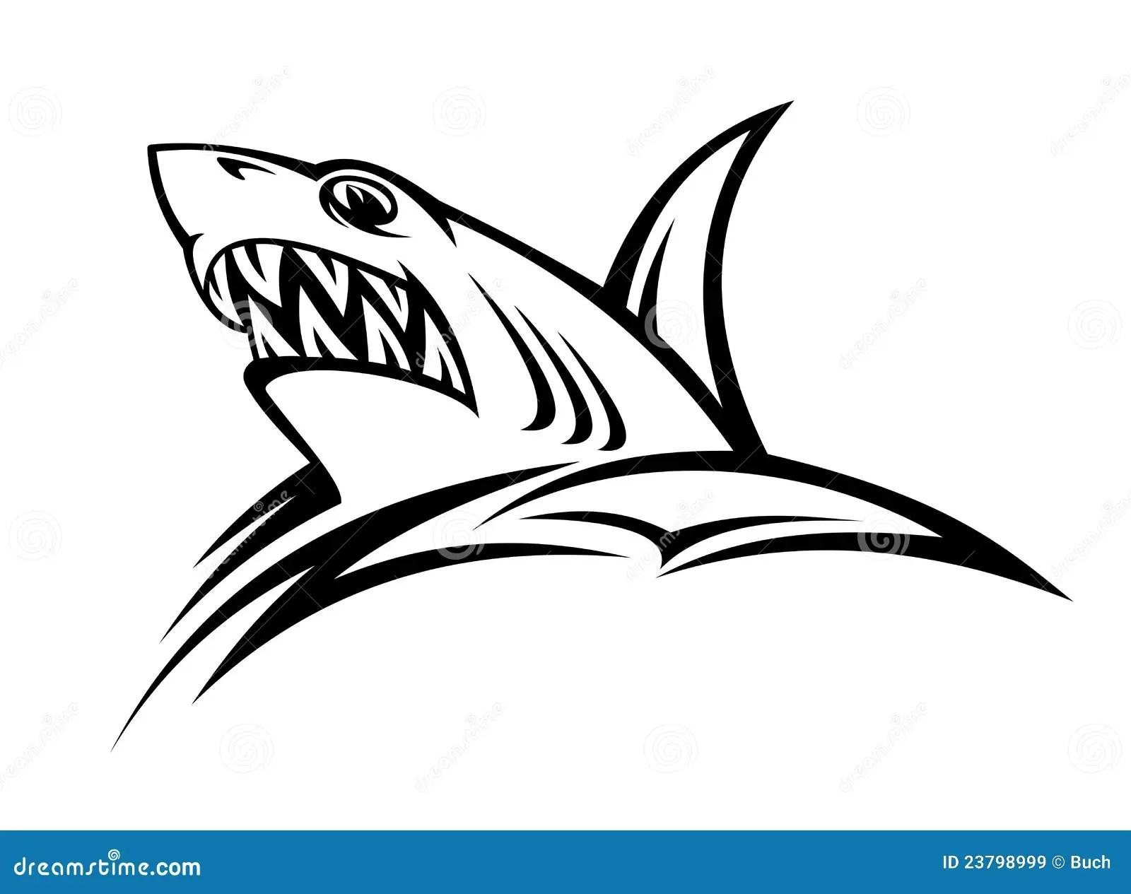 Danger Shark Tattoo Stock Vector Illustration Of Danger
