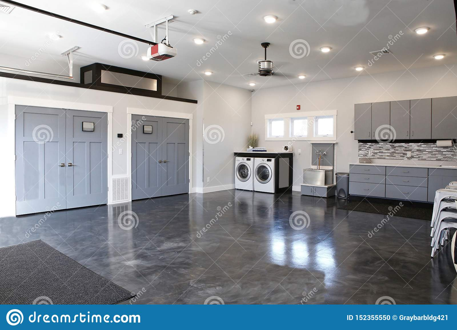 Dark Grey Wood Floors Or Grey Hardwood Floors Attractive Wonderful Kitchen Stock Photo Image Of Beautiful House 152355550