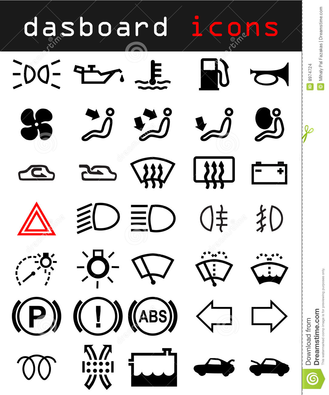 Dashboard Icons Stock Vector Illustration Of Round Panel