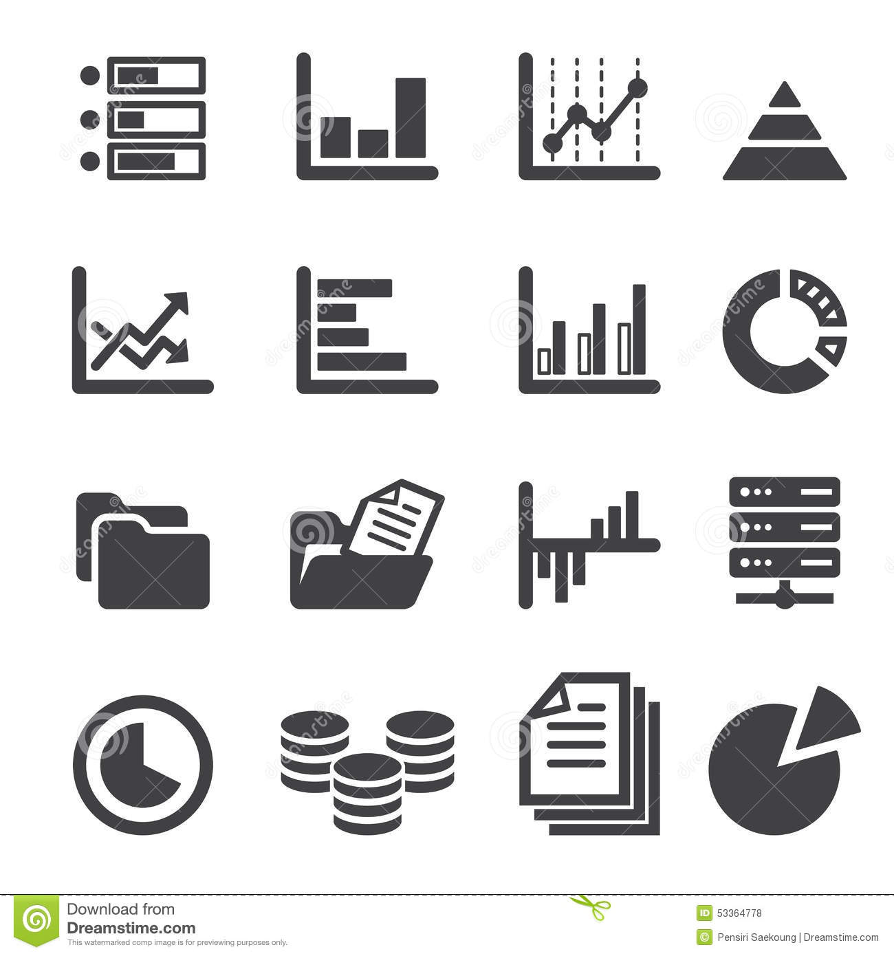 Data Icon Set Stock Vector