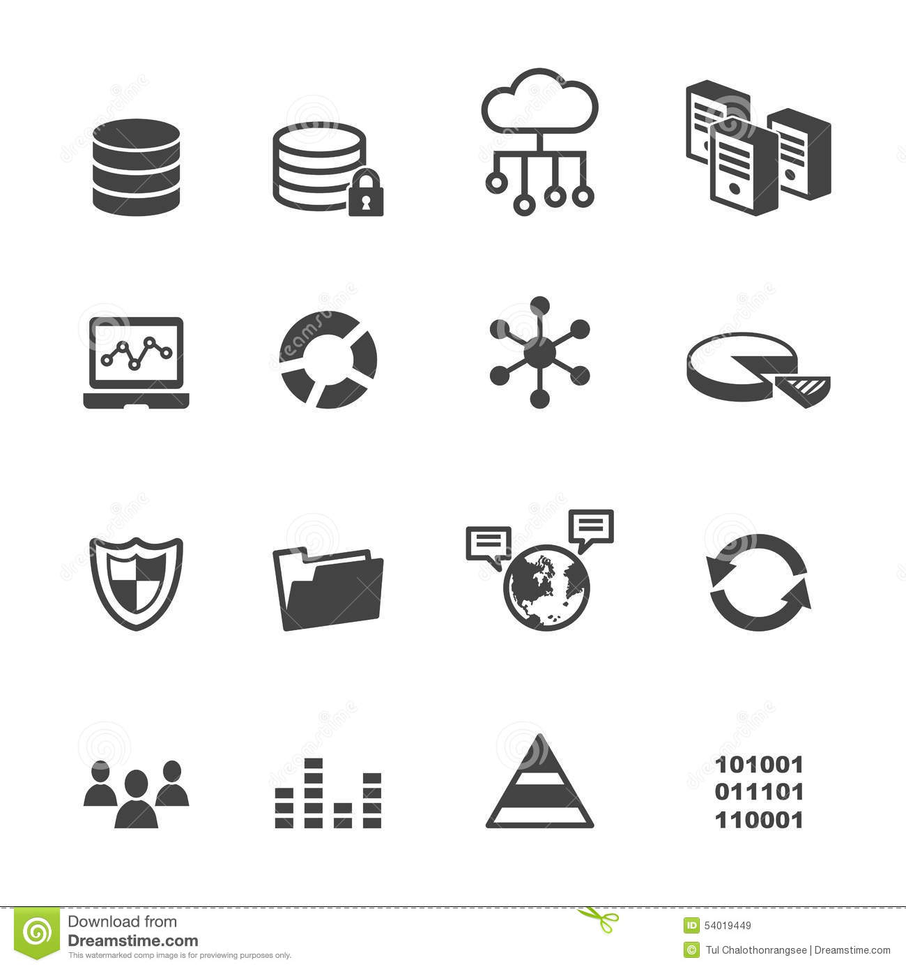 Data Icons Stock Vector