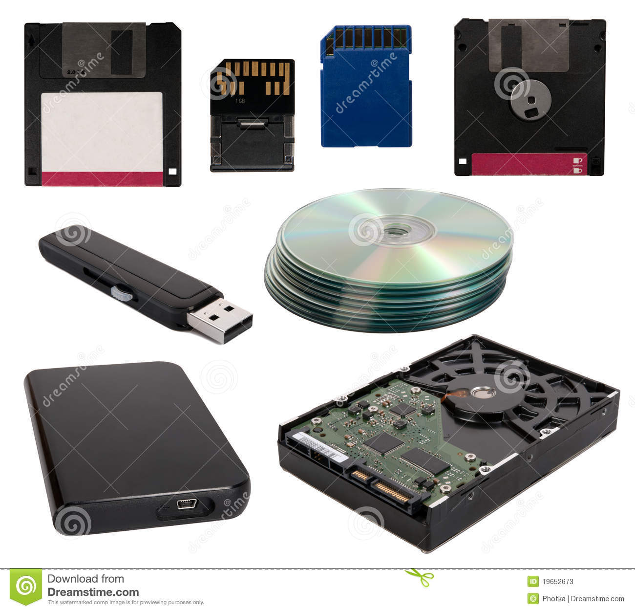 Data Storage Devices Stock Image Image Of Flash Digital