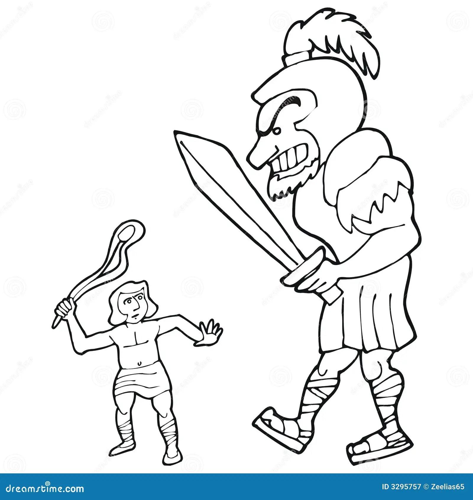 David And Goliath Stock Vector Illustration Of Goliath
