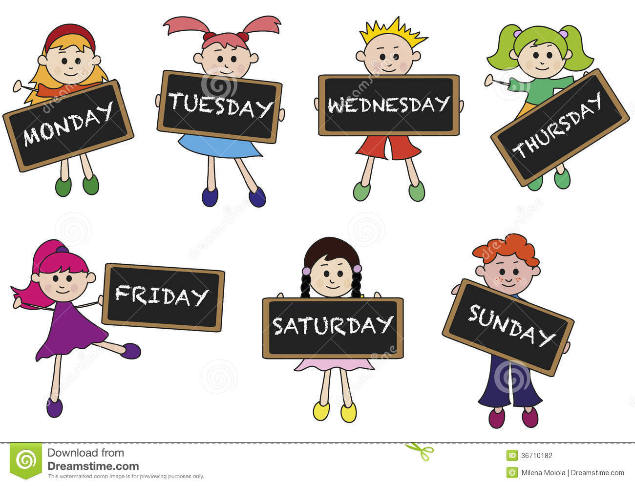 Days Of Week Stock Photography