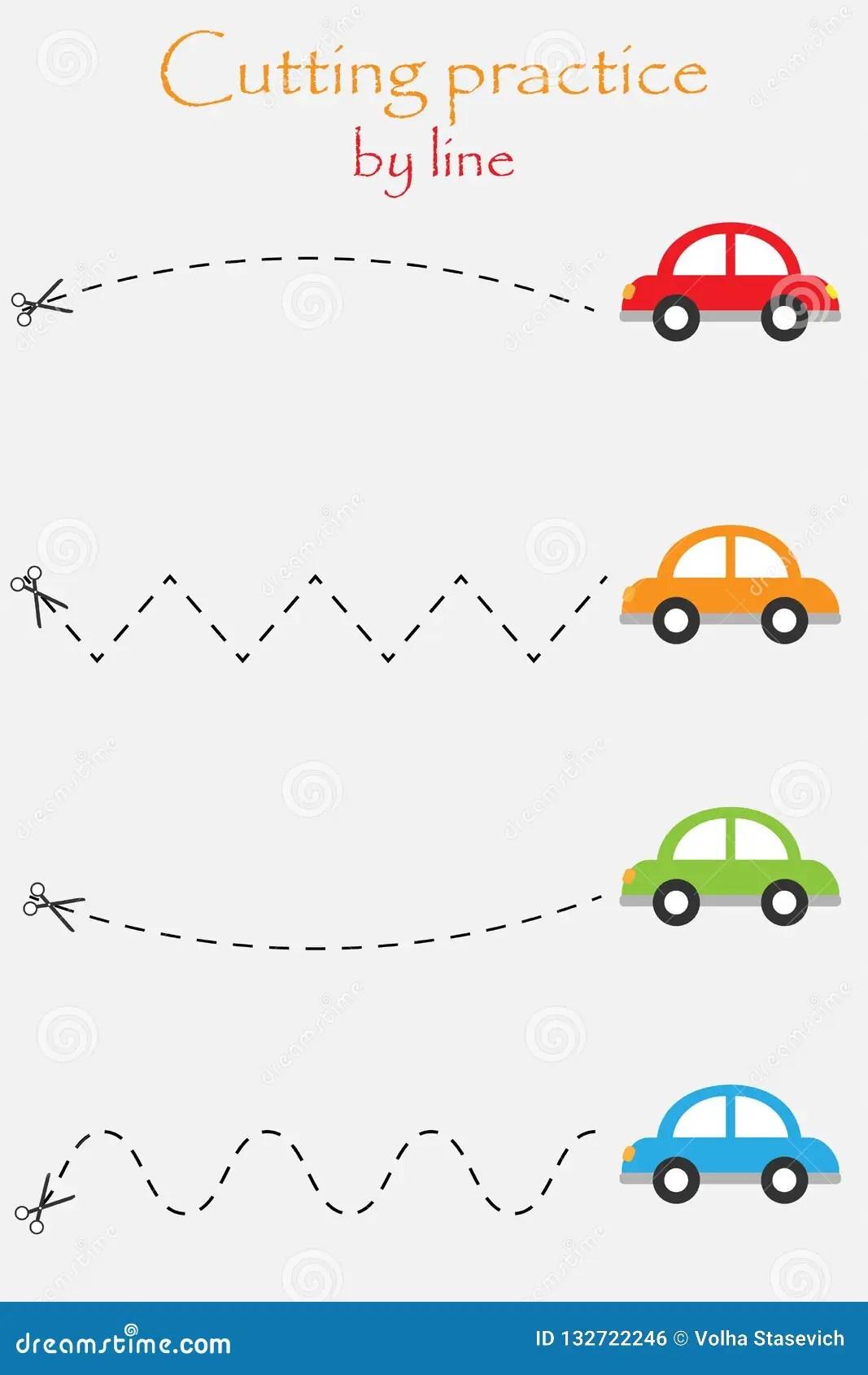 De Auto S In Beeldverhaalstijl Onderwijs Snijden Spel